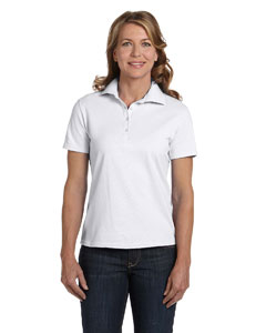 White Women's 7 oz. ComfortSoft® Cotton Piqué Polo