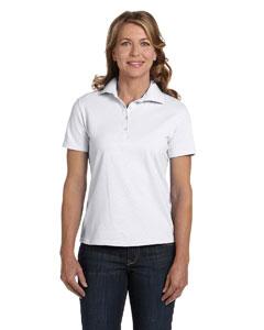 White Women's 7 oz. ComfortSoft® Cotton Piqué Polo