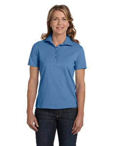 Carolina Blue Women's 7 oz. ComfortSoft® Cotton Piqué Polo