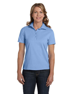 Light Blue Women's 7 oz. ComfortSoft® Cotton Piqué Polo