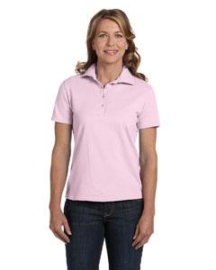 Pale Pink Women's 7 oz. ComfortSoft® Cotton Piqué Polo