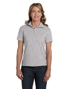 Light Steel Women's 7 oz. ComfortSoft® Cotton Piqué Polo