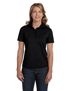Black Women's 7 oz. ComfortSoft® Cotton Piqué Polo