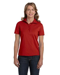 Deep Red Women's 7 oz. ComfortSoft® Cotton Piqué Polo