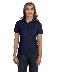 Deep Navy Women's 7 oz. ComfortSoft® Cotton Piqué Polo