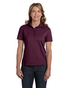Maroon Women's 7 oz. ComfortSoft® Cotton Piqué Polo