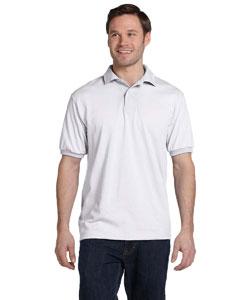 White 5.2 oz., 50/50 ComfortBlend® EcoSmart® Jersey Knit Polo