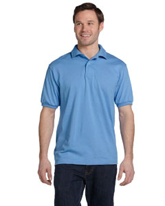 Carolina Blue 5.2 oz., 50/50 ComfortBlend® EcoSmart® Jersey Knit Polo