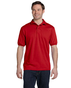 Deep Red 5.2 oz., 50/50 ComfortBlend® EcoSmart® Jersey Knit Polo