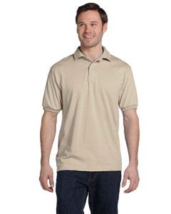 Sand 5.2 oz., 50/50 ComfortBlend® EcoSmart® Jersey Knit Polo