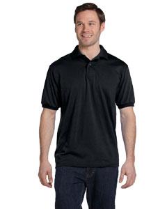 Black 5.2 oz., 50/50 ComfortBlend® EcoSmart® Jersey Knit Polo