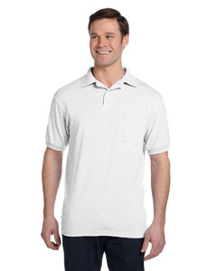 White 5.2 oz., 50/50 EcoSmart® Jersey Pocket Polo
