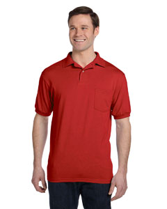 Deep Red 5.2 oz., 50/50 EcoSmart® Jersey Pocket Polo