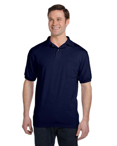 Navy 5.2 oz., 50/50 EcoSmart® Jersey Pocket Polo