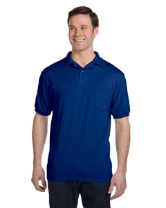Deep Royal 5.2 oz., 50/50 EcoSmart® Jersey Pocket Polo