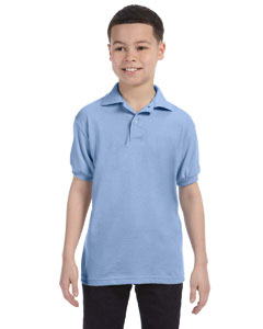 Light Blue Youth 5.2 oz., 50/50 ComfortBlend® EcoSmart® Jersey Knit Polo