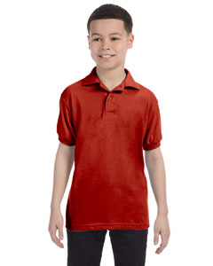 Deep Red Youth 5.2 oz., 50/50 ComfortBlend® EcoSmart® Jersey Knit Polo