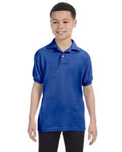 Deep Royal Youth 5.2 oz., 50/50 ComfortBlend® EcoSmart® Jersey Knit Polo