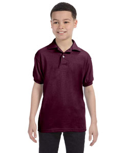 Maroon Youth 5.2 oz., 50/50 ComfortBlend® EcoSmart® Jersey Knit Polo