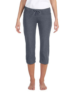 Deep Heather Women's Capri Scrunch Pant