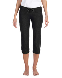 Black Women's Capri Scrunch Pant