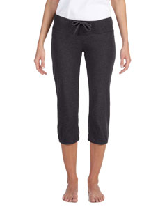 Dk Grey Heather Women's Capri Scrunch Pant
