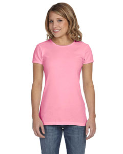 Pink Women's Baby Rib Short-Sleeve T-Shirt