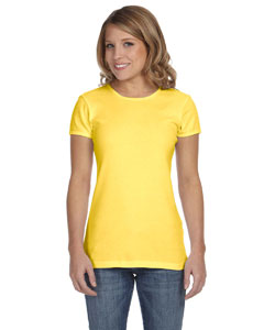 Yellow Women's Baby Rib Short-Sleeve T-Shirt