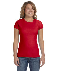 Red Women's Baby Rib Short-Sleeve T-Shirt