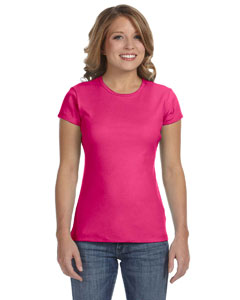 Fuchsia Women's Baby Rib Short-Sleeve T-Shirt