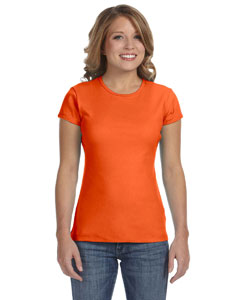 Orange Women's Baby Rib Short-Sleeve T-Shirt