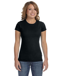 Black Women's Baby Rib Short-Sleeve T-Shirt