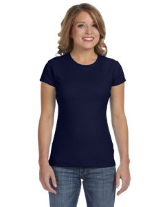 Navy Women's Baby Rib Short-Sleeve T-Shirt