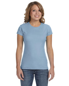 Baby Blue Women's Baby Rib Short-Sleeve T-Shirt