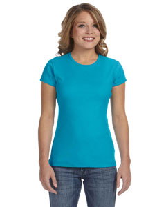 Turquoise Women's Baby Rib Short-Sleeve T-Shirt