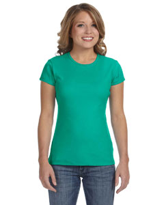 Teal Women's Baby Rib Short-Sleeve T-Shirt