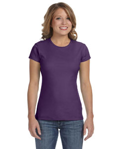 Purple Women's Baby Rib Short-Sleeve T-Shirt