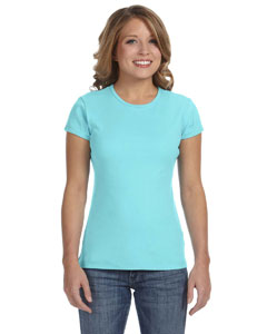 Light Aqua Women's Baby Rib Short-Sleeve T-Shirt