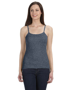 Deep Heather Women's Baby Rib Spaghetti Strap Tank