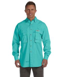 Aqua Men's Gulf Stream Long-Sleeve Fishing Shirt