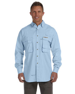 Ice Blue Men's Gulf Stream Long-Sleeve Fishing Shirt