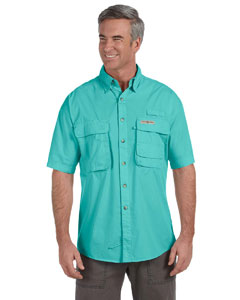 Aqua Men's Gulf Stream Short-Sleeve Fishing Shirt
