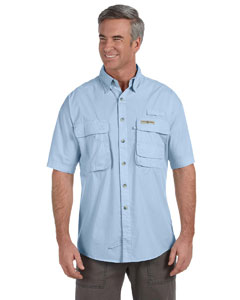 Ice Blue Men's Gulf Stream Short-Sleeve Fishing Shirt