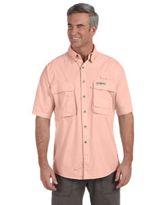 Peach Men's Gulf Stream Short-Sleeve Fishing Shirt