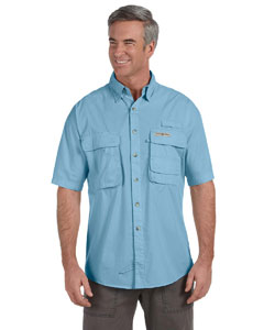 Turquesa Men's Gulf Stream Short-Sleeve Fishing Shirt
