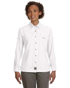 White Women's Peninsula Long-Sleeve Performance Fishing Shirt