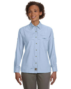 Ice Blue Women's Peninsula Long-Sleeve Performance Fishing Shirt