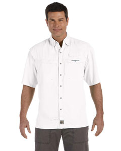White Men's Peninsula Short-Sleeve Performance Fishing Shirt