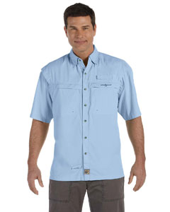 Ice Blue Men's Peninsula Short-Sleeve Performance Fishing Shirt