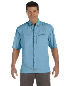 Turquesa Men's Peninsula Short-Sleeve Performance Fishing Shirt